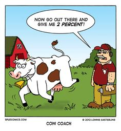 """Bovine Off the Bench"" (by: Spud Comics) #calculture #calcultureblog #calculturevideos #calranchstores #ranchlife #farmlife"