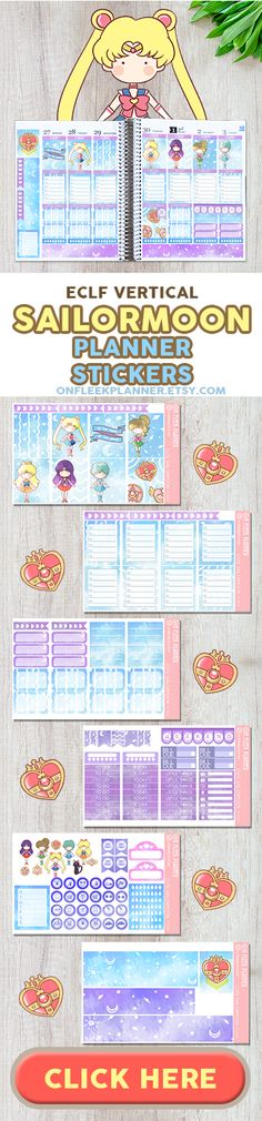 Sailormoon Weekly Planner Sticker