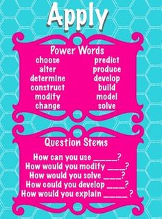 Revised Bloom's Taxonomy Power Words & Questions Posters Teaching Music, Student Teaching, Teaching Ideas, Music Classroom, School Classroom, Classroom Ideas, Gifted Education, Music Education, Thinking Skills