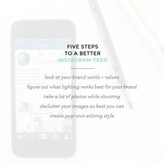 5 Steps To A Better Instagram Feed
