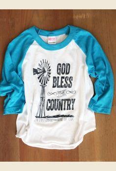 god bless the country - KIDS raglan