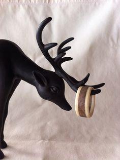 Handmade antler ring for men.