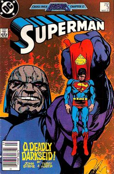 2 BIG boys! Darkseid, my all-time favorite bad guy... Vs. Superman! John Byrne art! YEAH!