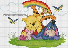 schemi punto croce disney, disney cross stitch