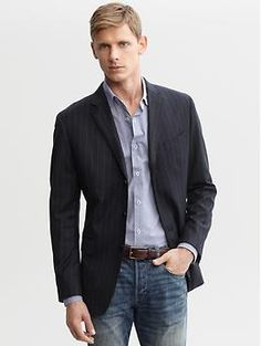 3fcb2ea45a6 Grey button down and jeans Business Casual Attire For Men, Business Casual  Jacket, Men