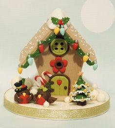 PDF Tutorial: Christmas Birdhouse Cake Topper por PeggyDoesCake