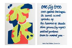 Queens Road Peckham diptych, 3 colour screen print on quality 310 gsm paper, limited edition of each print is x Your order includes 2 x prints to complete the diptych. Fig Tree, Chalk Paint, Screen Printing, Prints, A3, Queens, Pearl, Colour, Madeleine