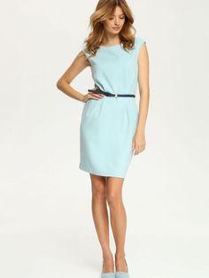 платье  элегантное голубое - SSU1491 TOP SECRET