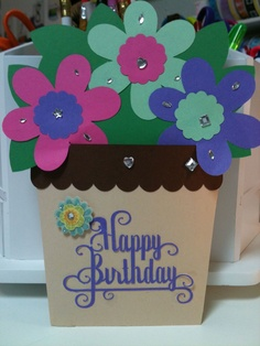 Birthday card made for my daughter's friend. She picked out the design, I cut it out with my silhouette machine and she glued it together and added some sparkle. So much fun letting the kids pick out designs from my silhouette design library and creating memories.