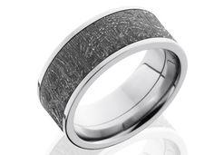 Meteorite Wedding Rings | Gibeon Meteorite | Unique Unusual Matching Wedding Rings | Mens Rings | Austin Texas