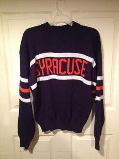 Vintage retro 80s Syracuse University football by VintageCuse College Wear f7358c62f