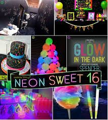 Image result for teenage girls year birthday party neon decorations/ideas