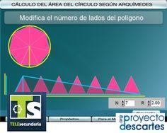 PROYECTO TELESECUNDARIA. Cálculo del área del círculo según Arquímedes. Mostrar dos procedimientos de aproximación al área de un círculo.