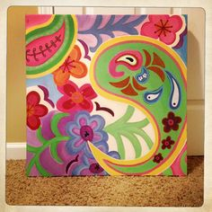 Paisley inspired painting