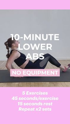 Gym Workout Videos, Abs Workout Routines, Easy Workouts, At Home Workouts, Pilates Workout, Muscle Girl, Lower Abs, Fitness Workout For Women, Fitness Goals