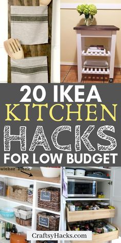 Try these diy ikea furniture ideas and transform the way your kitchen looks. Make your own ikea shelves, ikea tables and even your own ikea organizers for kitchen. Farmhouse Style Kitchen, Rustic Kitchen, Kitchen Decor, Diy Kitchen, Kitchen Ideas, Industrial Wall Shelves, Ikea Shelves, Ikea Furniture Makeover, Diy Furniture Projects