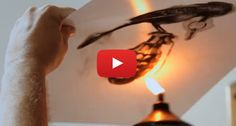 This Amazing Artist Uses FIRE To Paint With. Just Watch
