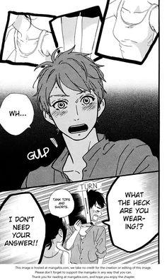 Hirunaka no Ryuusei 27 - omg his reaction is too cute >///