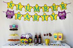 Night Owl Slumber Party Package by Pinwheel Lane on etsy