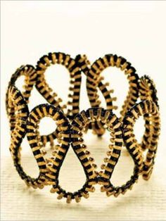 @TRESemmé India #TRESSplitRemedy #SplitEnds Bracelet made of broken zip..