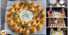 Corona de BRIOCHE con queso CAMEMBERT para un aperitivo de lujo