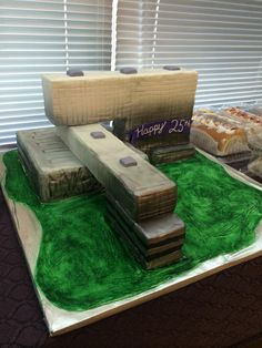 HDR Architecture  celebrated an employee's 25th year at the company with a giant cake shaped like the new Parkland! That's celebrating with style!