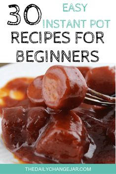 30 Easy Instant Pot Recipes for Beginners - The Daily Change Jar Best Instant Pot Recipe, Instant Pot Dinner Recipes, Instant Recipes, Recipes For Beginners, Great Recipes, Frugal Recipes, My Favorite Food, Favorite Recipes, Change Jar