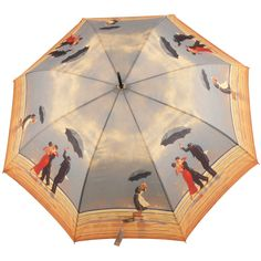 Jack Vettriano Auto Opening Walking Length Umbrella - The Singing Butler - Brolliesgalore