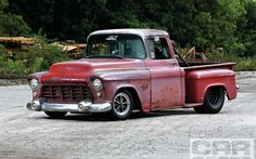 1955 Chevy 3100 Front View