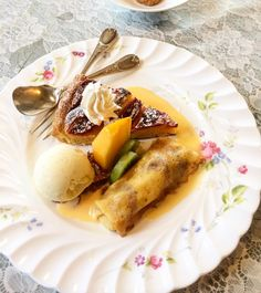 #300 #投稿 #デザート #プレート #盛り合わせ #バナナ #クリーム #オムレット ##バニラ #アイス #柿 #アップルパイ #シナモン #キウイフルーツ #甘い #爽やか #美味しい #イタリアン #レストラン #ランチ #dessert #delicious #fruit #cake #apple #pie #food #icecream