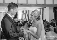 Exchanging rings at Vaulty Manor, reportage - documentary-style photography by Jayne Heather - Wedding Photojournalism