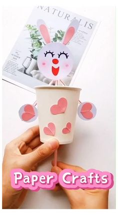 😍Fun & Easy Rabbit Paper Craft for Kids #teapot #craft #for #toddlers #teapotcraftfortoddlers 😍Sooo Cute. Follow me for more handmade tutorials. Why not show your work in the comment area? #paper craft #craft for kids Diy Crafts Hacks, Diy Crafts For Gifts, Paper Crafts For Kids, Craft Activities For Kids, Creative Crafts, Preschool Crafts, Easter Crafts, Diy For Kids, Fun Crafts