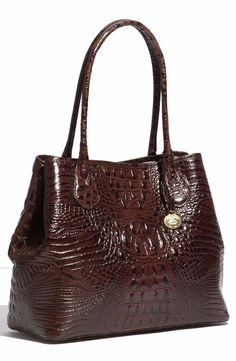 ❤BRAHMIN ANYTIME TOTE TRUFFLE BROWN CROC SHOPPER ALL DAY LEATHER BAG ~ COCOA ❤ in Clothing, Shoes & Accessories, Women's Handbags & Bags, Handbags & Purses | eBay