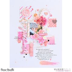 157 vind-ik-leuks, 22 reacties - Ulrike Dold (@thinkpinkandmint) op Instagram: 'I'm up at the @cocoa_vanilla_studio blog today with this layout made with the pretty Bohemian Dream…'