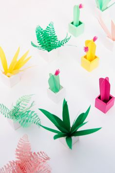 Really don't have a green thumb? Make a paper succulent garden instead | A Subtle Revelry