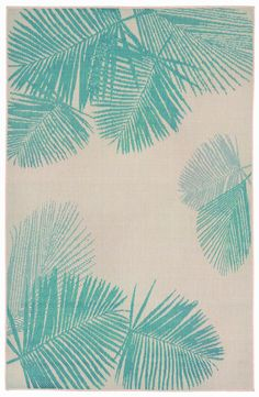 Terrace Palm Area Rug-Turquoise