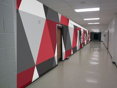 The Best Graphic Design Schools Proposal By Graphic Design For Hallway Outside Principal's Office Interior Design Photos, Office Interior Design, Office Interiors, School Hallways, School Murals, Flur Design, Wall Design, Office Wall Graphics, Best Office