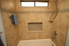 Bathroom accent tile Design Ideas, Pictures, Remodel and Decor