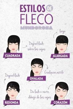 El fleco según la forma de tu cara. by guadalupe
