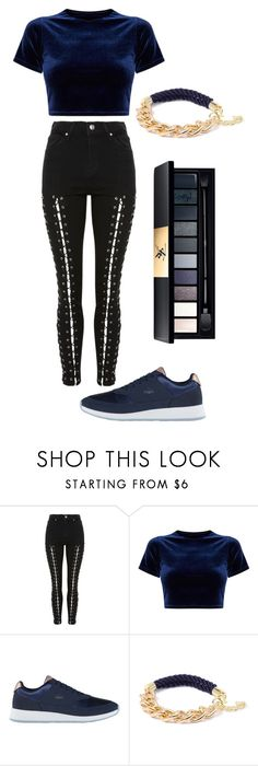 """."" by aya-rosee ❤ liked on Polyvore featuring Topshop, Lacoste, Ashley Bridget and John Lewis"