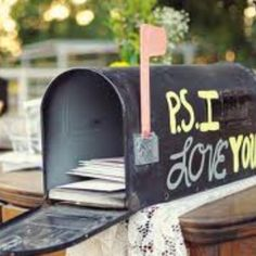 Totally using at my wedding!!! send him/her a letter a day for 30 days :)