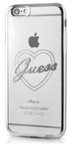Guess Silver Heart Cover for iPhone 7