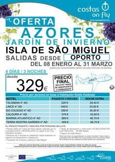 Azores desde Oporto (Isla de Sao Miguel). Salidas de Enero a Marzo. ultimo minuto - http://zocotours.com/azores-desde-oporto-isla-de-sao-miguel-salidas-de-enero-a-marzo-ultimo-minuto/