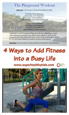 4 Ways to Add Fitness Into a Busy Life Running Workouts, Easy Workouts, You Fitness, Fitness Diet, Super Healthy Kids, Healthy Sleep, Busy Life, Exercise For Kids, Best Apps