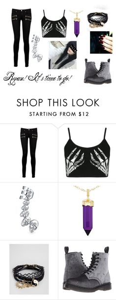 """""""Hunted"""" by xxspooky-scary-danixx ❤ liked on Polyvore featuring Paige Denim, Boohoo, Bling Jewelry, Simone I. Smith, ASOS and Dr. Martens"""