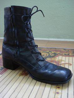 Vintage 1980s Mens Boots Black Combat Boot 2013314