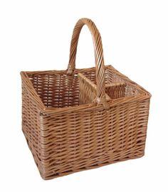 Butchers 2 Bottle Drinks Basket - http://redhamper.co.uk/butchers-2-bottle-drinks-basket/  #drinksbaskets #shoppingbaskets