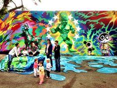 LIVE FROM MIAMI: Ron English at Wynwood Walls www.UrbanArtNow.net - your daily source of Street Art, Urban Art & Graffiti #Wynwood #artbasel #miami #mural #streetart #urbanart #urbanartnow