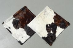 Brown Tricolor Cowhide Pillows