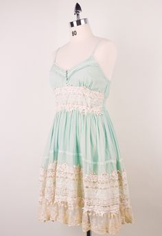 #Chicwish Got a Date Mint Lace Dress - Dress - Retro, Indie and Unique Fashion